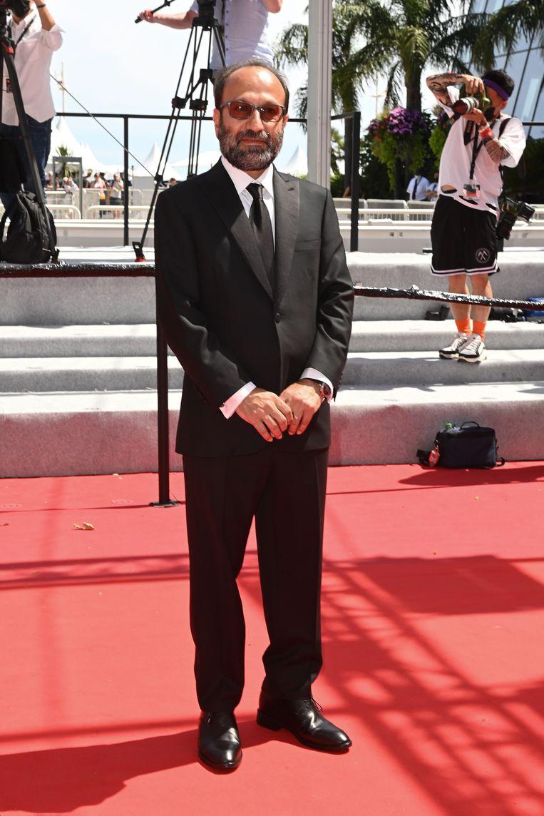 Asghar Farhadi bij de première van zijn drama A Hero in Cannes.   Beeld Getty Images