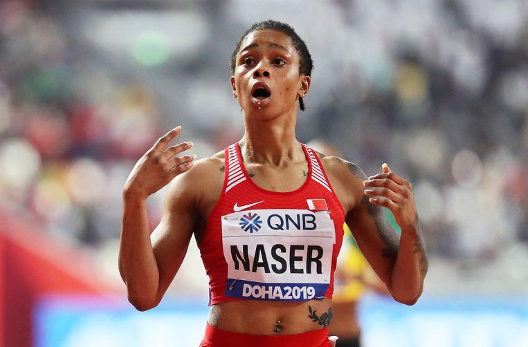 Salwa Eid Naser vindt het niet zo erg dat ze dopingcontroles mist. Beeld EPA