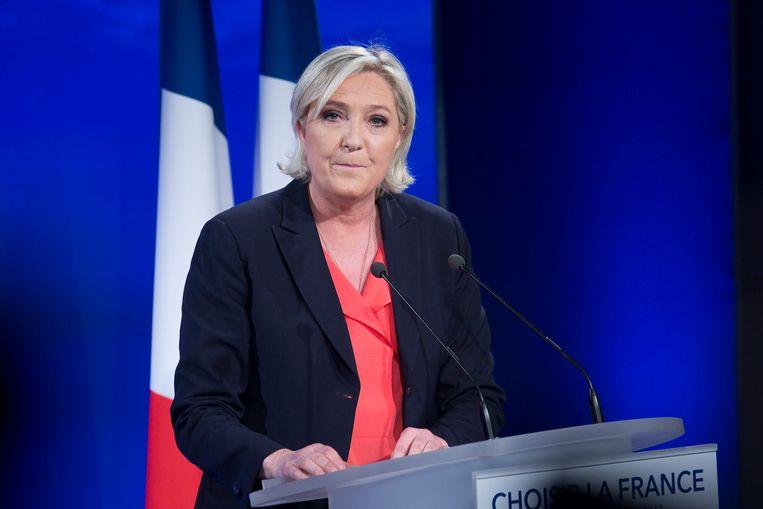 Marine Le Pen (FN).  Beeld Photo News