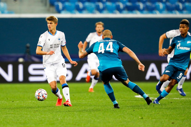 De 19-jarige Charles De Ketelaere was matchwinnaar voor Club Brugge tegen Zenit Sint-Petersburg. Beeld Photo News