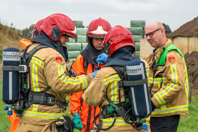 Ook maandag was de brandweer al actief bij de maïskuil van een bedrijf aan de Huijgevoort in Middelbeers waar giftig gas vrijkwam.