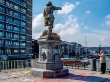 Bekladders van beelden slaan toe in Rotterdam, kunstinstelling laat smurrie bewust zitten