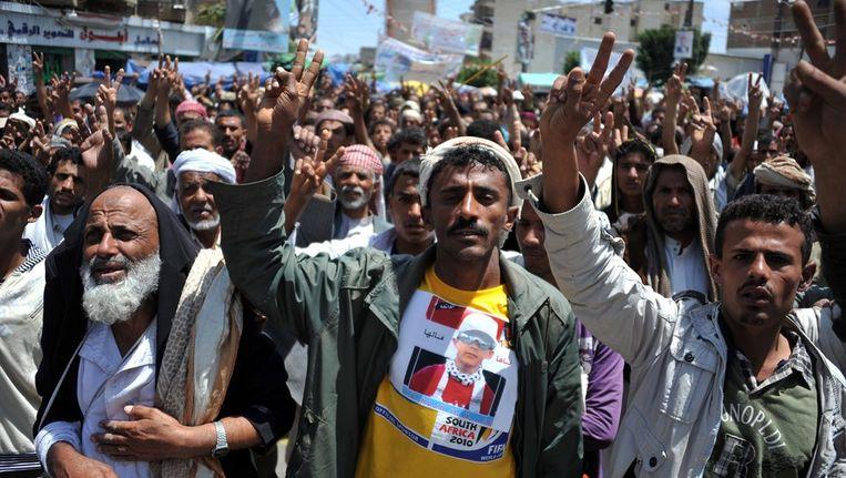 Jemen is al maanden toneel van protesten tegen het bewind van Saleh. Beeld epa
