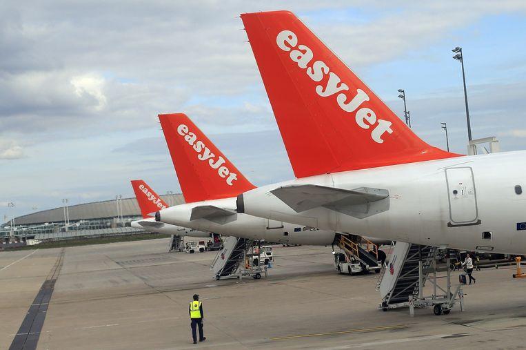 Het Franse cabinepersoneel van easyJet staakt.