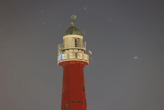 De lamp in de vuurtoren van Scheveningen bleef afgelopen nacht uit