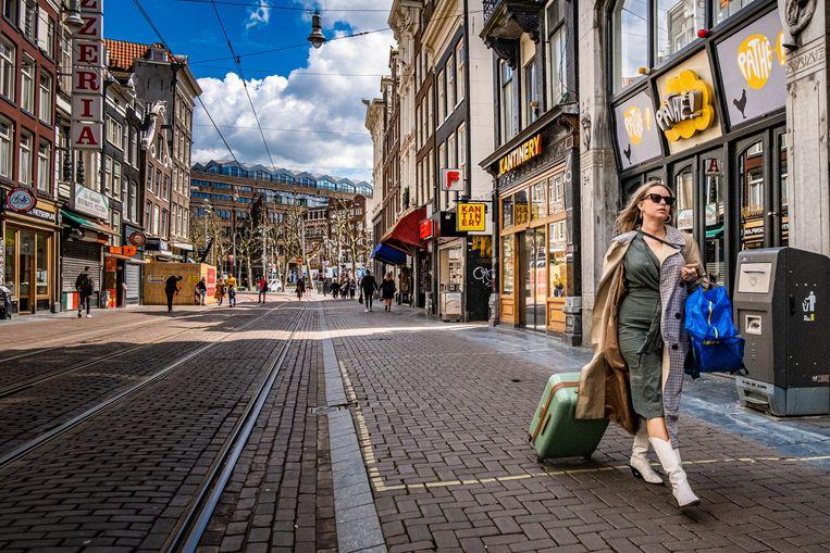 De door de coronamaatregelen getroffen sectoren zijn belangrijke pijlers onder de Amsterdamse economie.  Beeld Joris van Gennip/Hollandse Hoogte