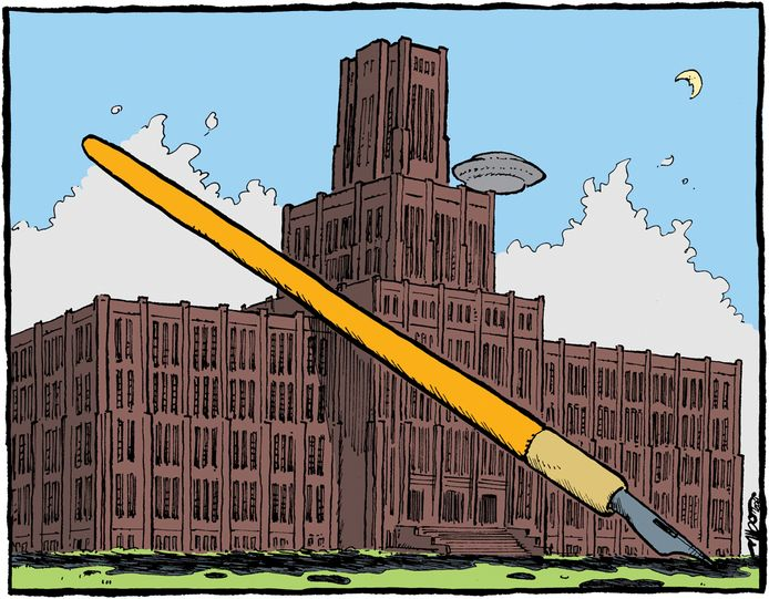'Inktpot met pen.' Tekening van Albo Helm.
