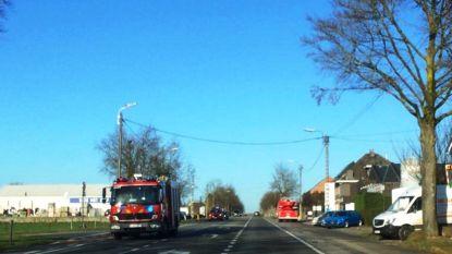 Loos brandalarm langs Gentsesteenweg