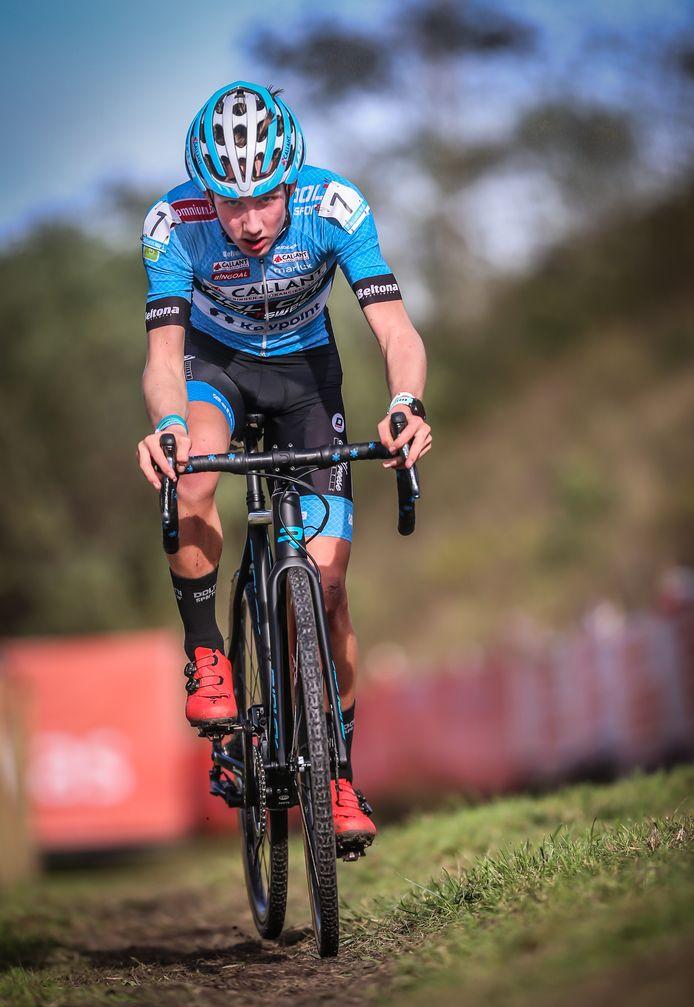Winnaar Arne Baers bij de junioren.