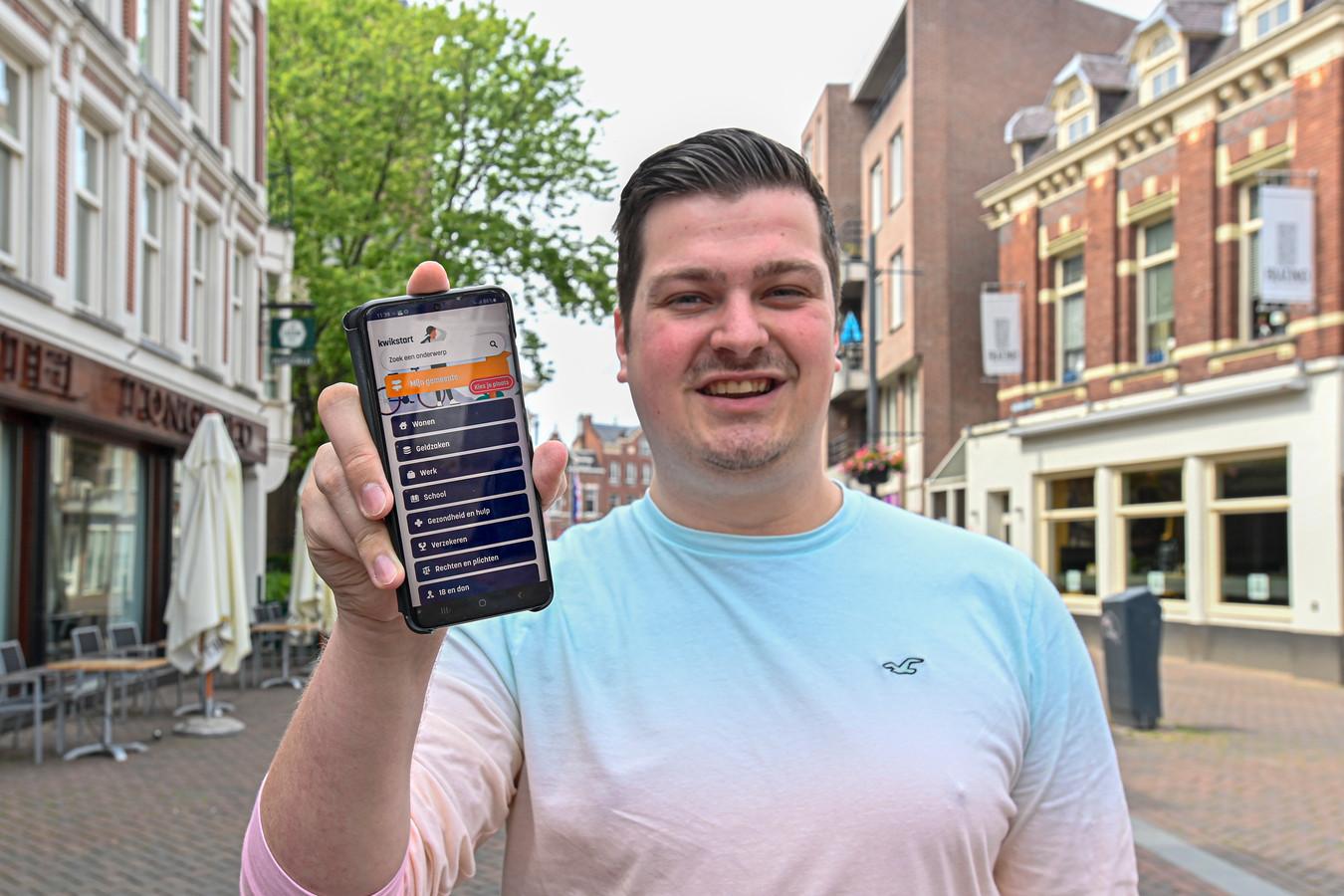Björn Rommens (PvdA) breekt een lans voor de nieuwe Kwikstart-app, die jongeren van 18 jaar moet helpen hun weg te vinden naar volwassenheid.