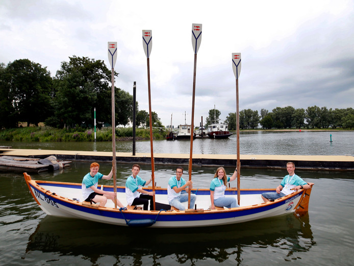 De medaillewinnaars werden donderdag in het zonnetje gezet in hun eigen haven.