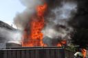 Fikse brand in een schuurtje in Waalwijk.