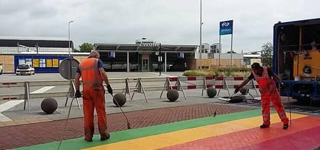 Regenboogloper Zwolle laat te snel los