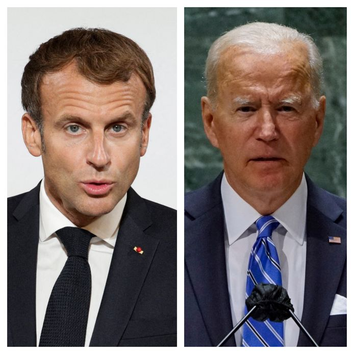 Emmanuel Macron et Joe Biden