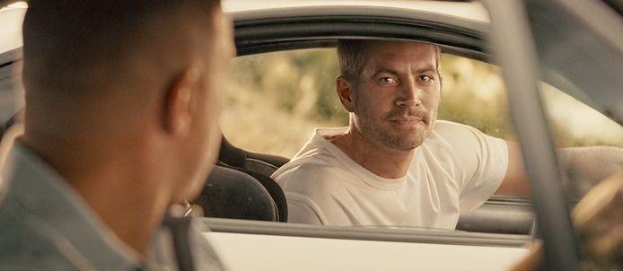 Paul Walker in zijn laatste film, 'Fast & Furious 7'.