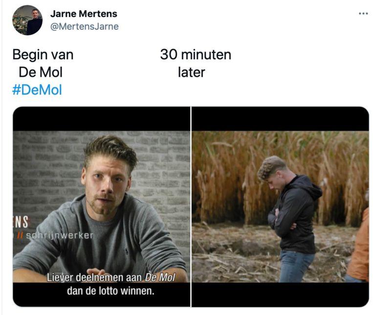 De Mol-memes Beeld Twitter