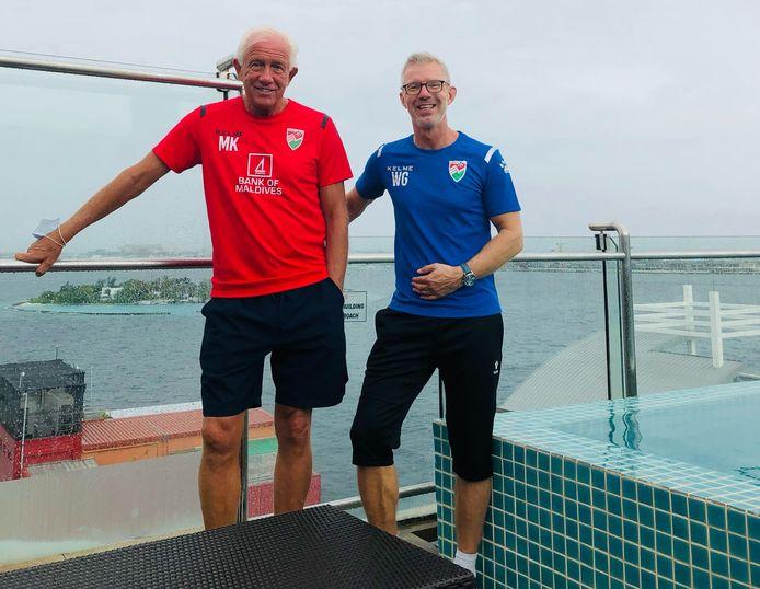 De bondscoaches van de Malediven: Martin Koopman uit Deventer en Gerhard Wermink uit Ommen.