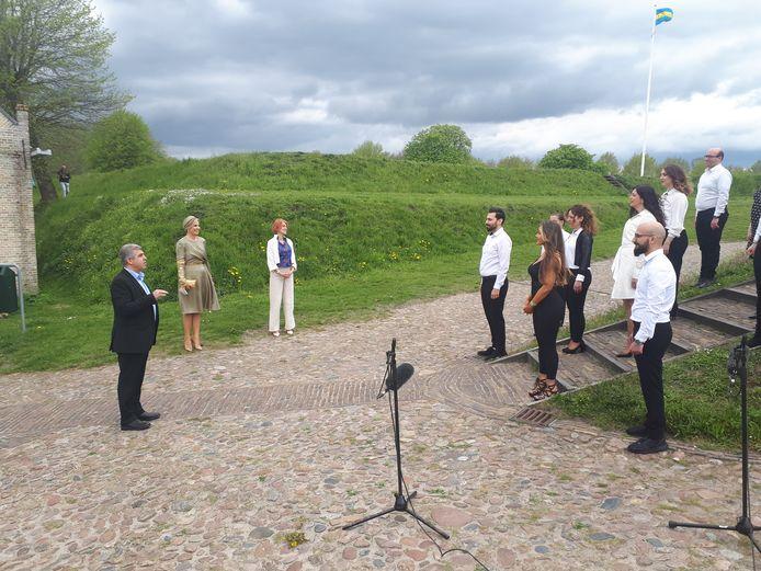 10-05-2021 BOURTANGE: Koningin Maxima op bezoek in het Groningse vestingdorp Bourtange