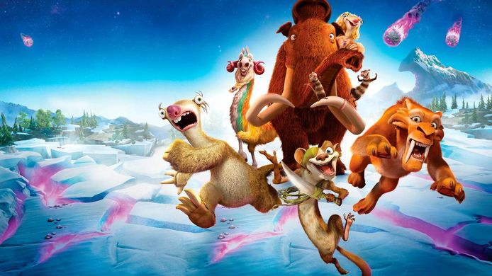 De personages uit 'Ice Age'.