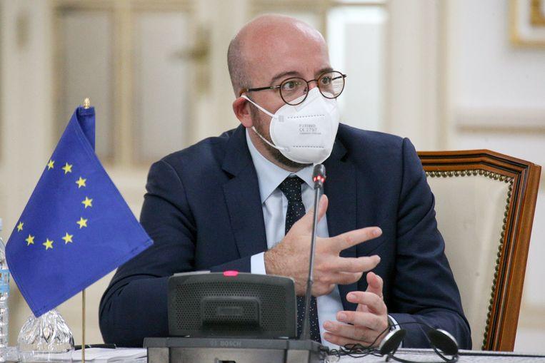 Charles Michel: 'Bij veel onderwerpen zien we dat de lidstaten vroeg of laat stappen in dezelfde richting zetten.' Beeld EPA