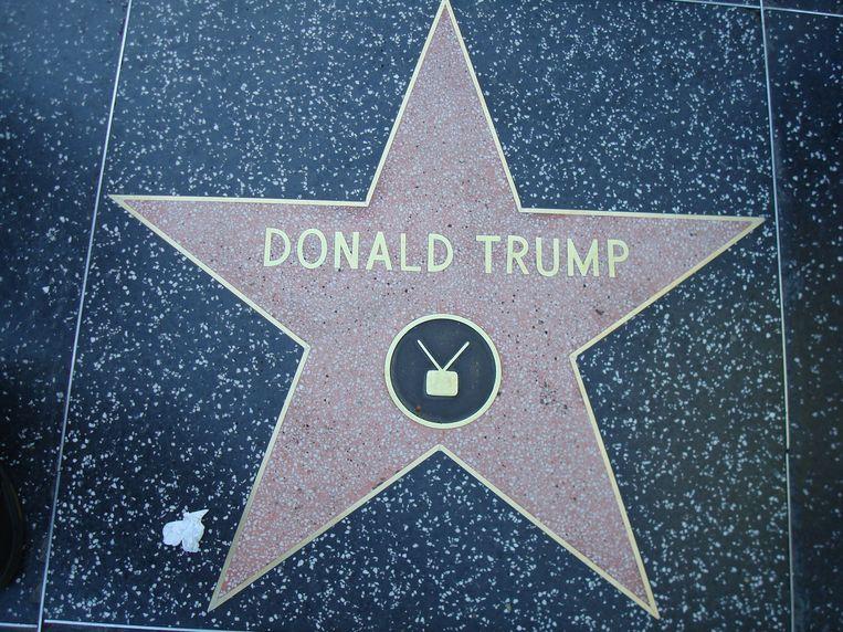 De ster van Donald Trump op de Hollywood Walk of Fame. Beeld cc - neelix