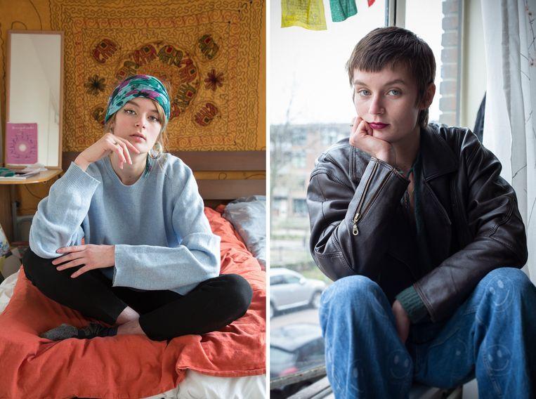 Elise van Iterson vijf jaar geleden en in 2021 Beeld Vivian Keulards