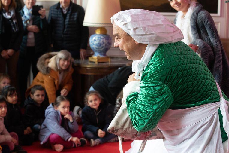 50 kleuters van Sint-Ritaschool mochten al een kijkje gaan nemen in het Kasteel van Duras.