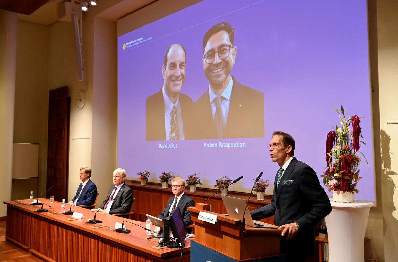 Het Nobelcomité maakt de winnaars bekend van de Nobelprijs voor de Geneeskunde.