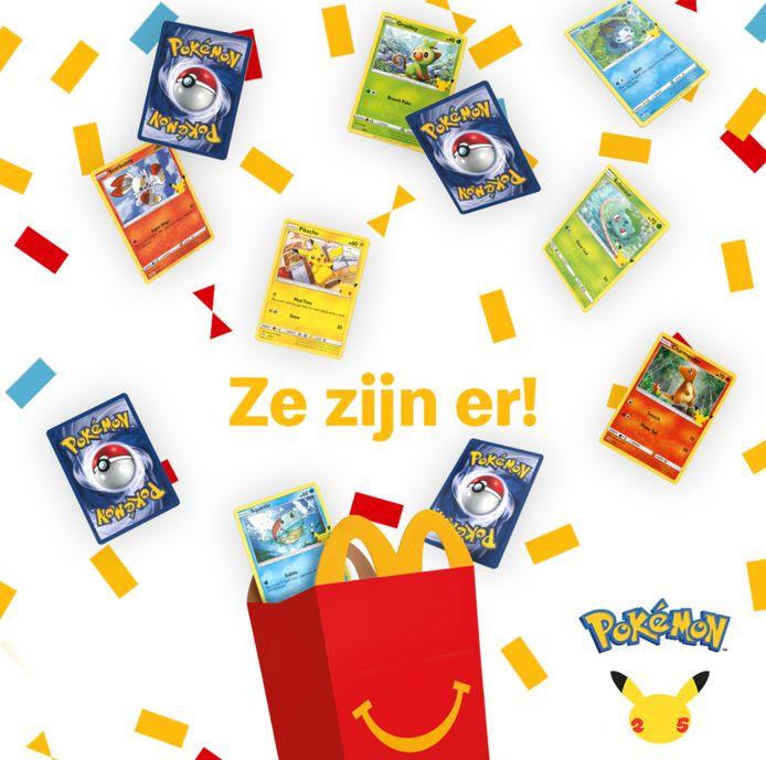 McDonald's deelt sinds 9 juni Pokémonkaarten uit bij iedere Happy Meal.