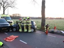 Brandweer bevrijdt beknelde vrouw uit auto na ongeluk in Asperen