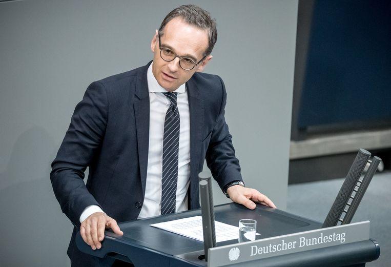 Duitse minister van Buitenlandse Zaken Heiko Maas (archiefbeeld). Beeld Michael Kappeler/dpa