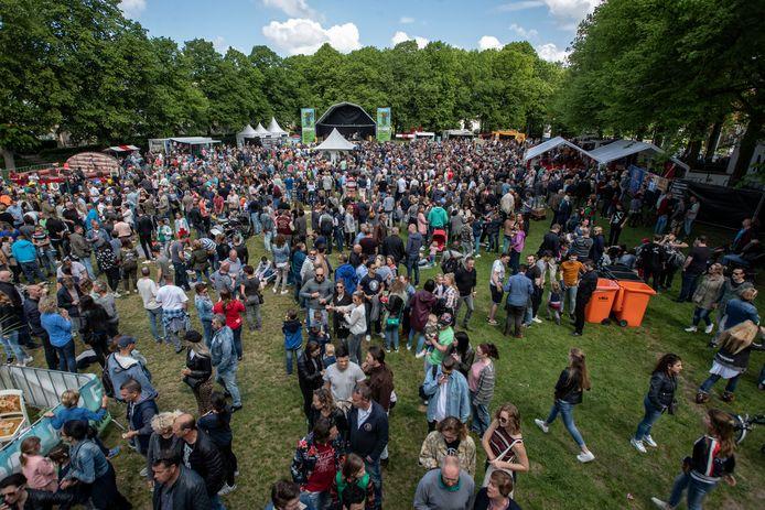 Festival Op de T op het Wilhelminaveld in Bergen op Zoom, foto uit 2018.