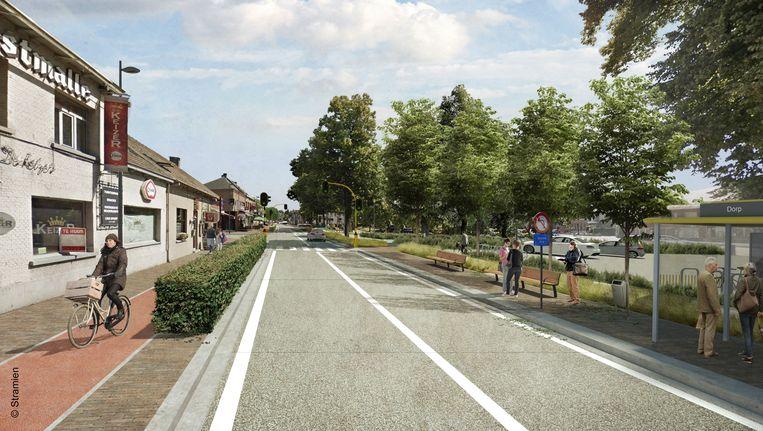 Zo zal de dorpskern van Olen-centrum er na de werken uitzien.
