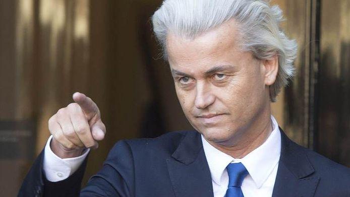 PVV-leider Geert Wilders in Den Haag.