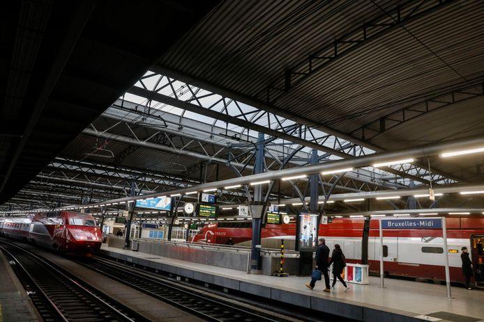 La gare du Midi à Bruxelles.