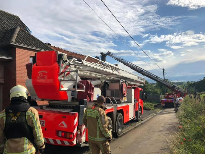 Brandweerposten Zottegem en Brakel kwamen ter plaatse.
