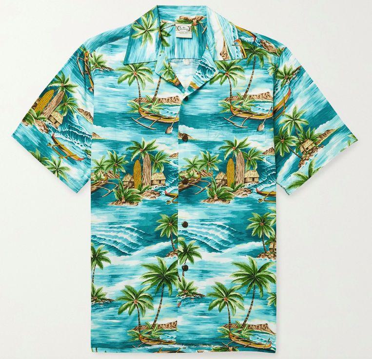 Een hawaïshirt ofwel aloha-shirt van Go Barefoot. Beeld packshot