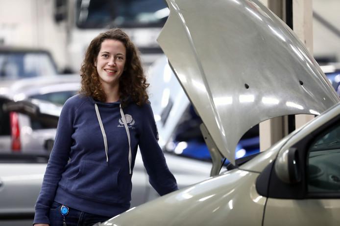 Tamara Scholten heeft maar één klasgenoot op de hbo-opleiding tot mbo-leraar in een technisch beroep.