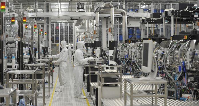 Een fabriek voor autochips in Japan.