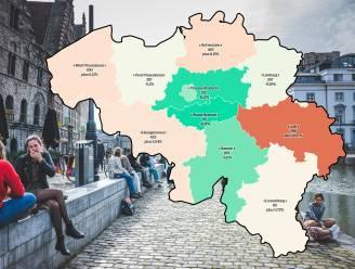 IN KAART. Besmettingen nemen toe in twee Vlaamse provincies, Luik noteert felste stijging. Bekijk hier de situatie in uw regio