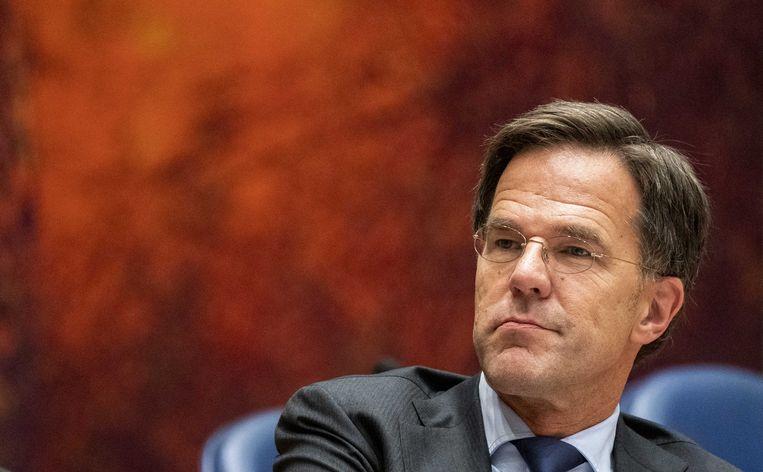 Premier Mark Rutte in de Tweede Kamer.  Beeld ANP - Jerry Lampen