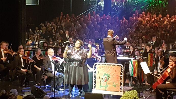 Zangeres Shirma Rouse vond haar optreden in Den Bosch 'Lekker hoor'