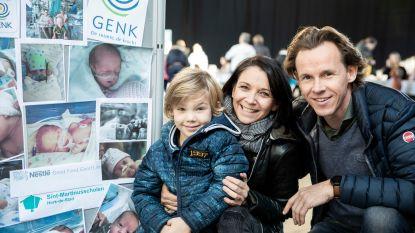 """270 prematuren en hun familie ontmoeten elkaar in Limburghal: """"Zo dankbaar dat Leon nog bij ons is"""""""