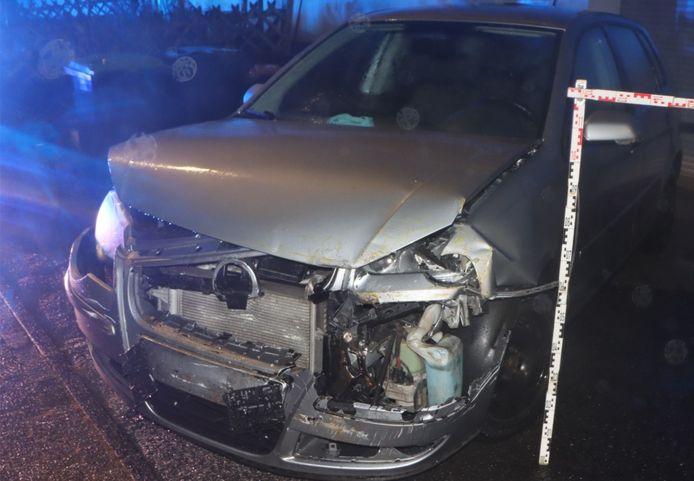 Nog een beschadigde auto.