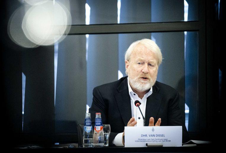 RIVM-directeur Jaap van Dissel tijdens de technische briefing in de Tweede Kamer over het coronavirus woensdag. Beeld ANP