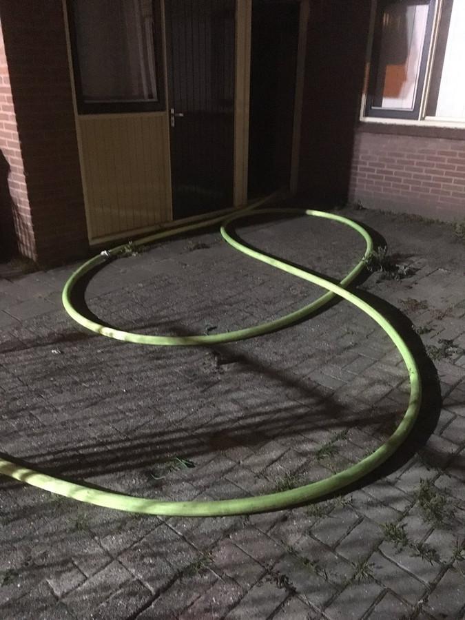 De nieuwe slang werd ingezet bij een brand in Almelo.