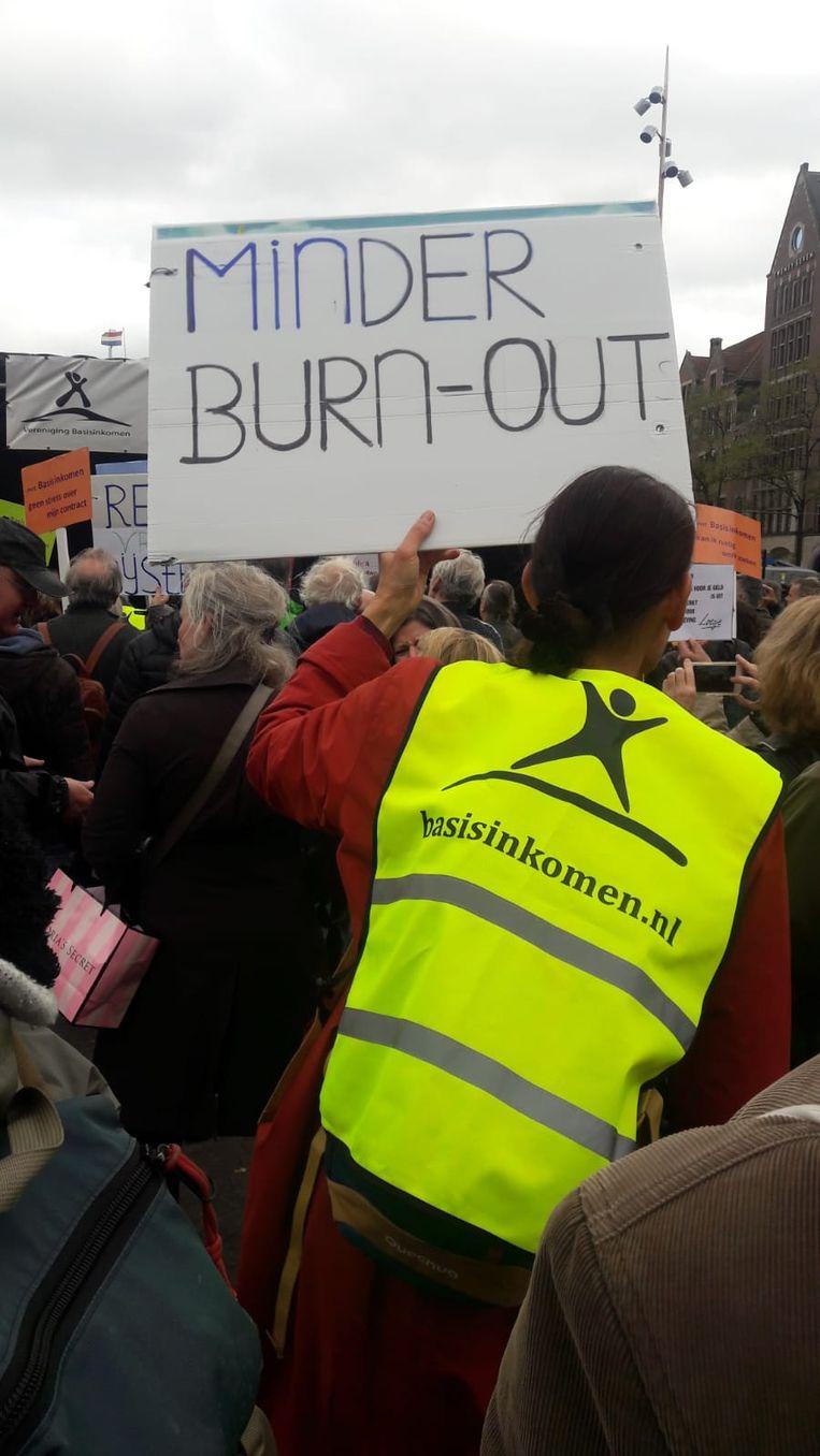 Demonstratie de Dam. Beeld Marcel Wiegman
