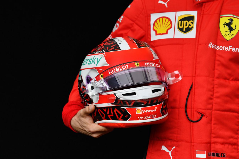 Charles Leclerc voor Ferrari  Beeld Photo News