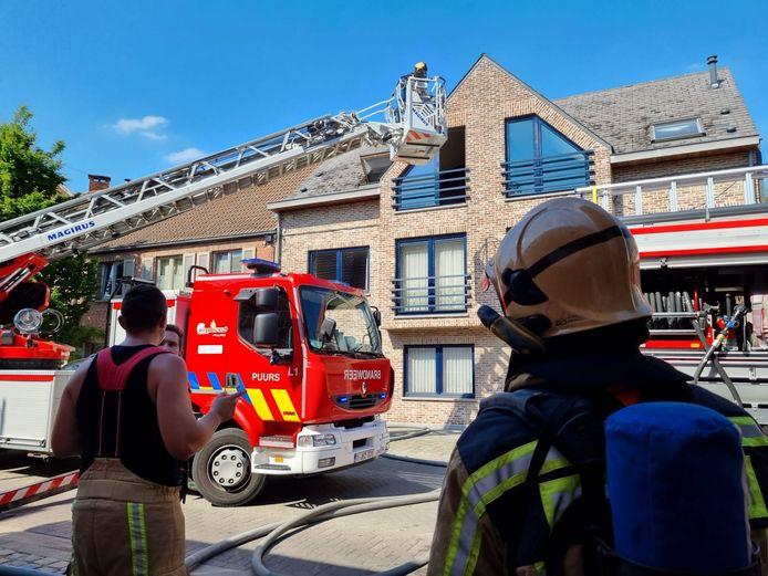 De brandweer kreeg het vuur snel onder contole
