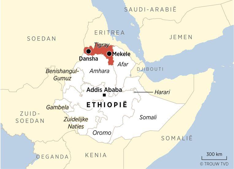 De deelstaten van Ethiopië. Beeld Thijs van Dalen